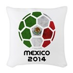 Mexico World Cup 2014 Woven Throw Pillow
