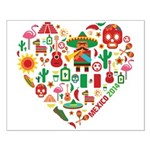 Mexico World Cup 2014 Heart Small Poster
