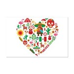 Mexico World Cup 2014 Heart Mini Poster Print