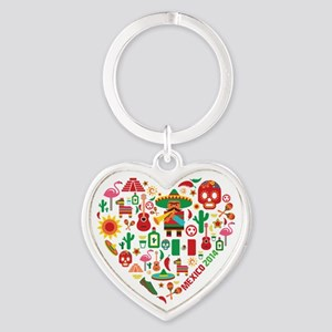 Mexico World Cup 2014 Heart Heart Keychain