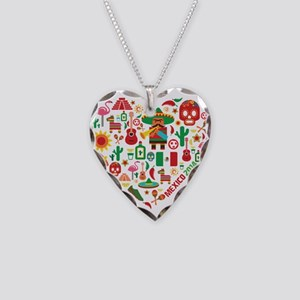 Mexico World Cup 2014 Heart Necklace Heart Charm