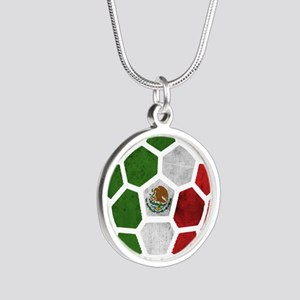 Mexico World Cup 2014 Silver Round Necklace