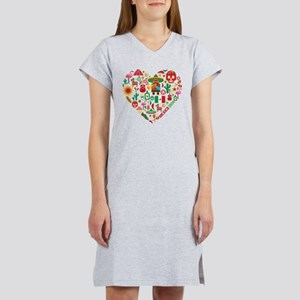 Mexico World Cup 2014 Heart Women's Nightshirt