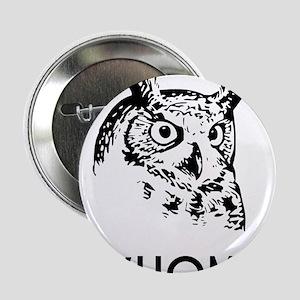 "Hoo Who Whom Grammar Owl 2.25"" Button"