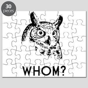 Hoo Who Whom Grammar Owl Puzzle