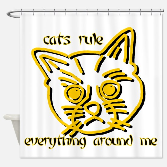 Catcream Shower Curtain