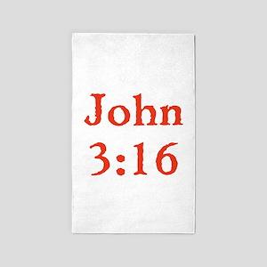 John 3:16 3'x5' Area Rug