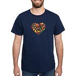 Cameroon World Cup 2014 Heart Dark T-Shirt