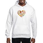 Cameroon World Cup 2014 Heart Hooded Sweatshirt