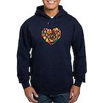 Cameroon World Cup 2014 Heart Hoodie (dark)