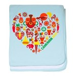 Cameroon World Cup 2014 Heart baby blanket