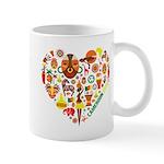 Cameroon World Cup 2014 Heart Mug