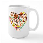 Cameroon World Cup 2014 Heart Large Mug