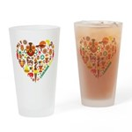 Cameroon World Cup 2014 Heart Drinking Glass