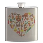 Cameroon World Cup 2014 Heart Flask