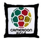 Cameroon World Cup 2014 Throw Pillow