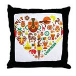 Cameroon World Cup 2014 Heart Throw Pillow