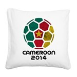 Cameroon World Cup 2014 Square Canvas Pillow