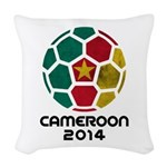 Cameroon World Cup 2014 Woven Throw Pillow