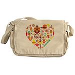 Cameroon World Cup 2014 Heart Messenger Bag