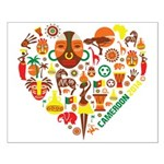 Cameroon World Cup 2014 Heart Small Poster