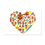 Cameroon World Cup 2014 Heart Mini Poster Print