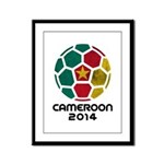 Cameroon World Cup 2014 Framed Panel Print