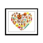 Cameroon World Cup 2014 Heart Framed Panel Print