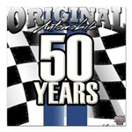 50 Anniversary Square Car Magnet 3