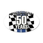 50 Anniversary Oval Car Magnet