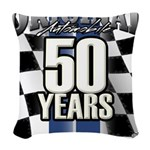 50 Anniversary Woven Throw Pillow
