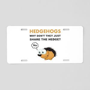 Hedgehog Share Aluminum License Plate