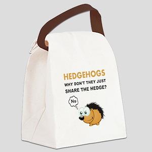 Hedgehog Share Canvas Lunch Bag