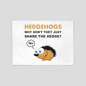 Hedgehog Share 5'x7'Area Rug