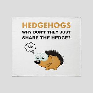 Hedgehog Share Throw Blanket
