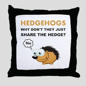 Hedgehog Share Throw Pillow