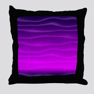 Dark Purple Sand Dunes Throw Pillow