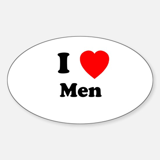 Men Oval Decal