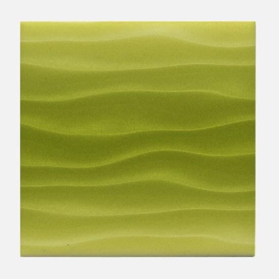 Yellow Sand Dunes Tile Coaster