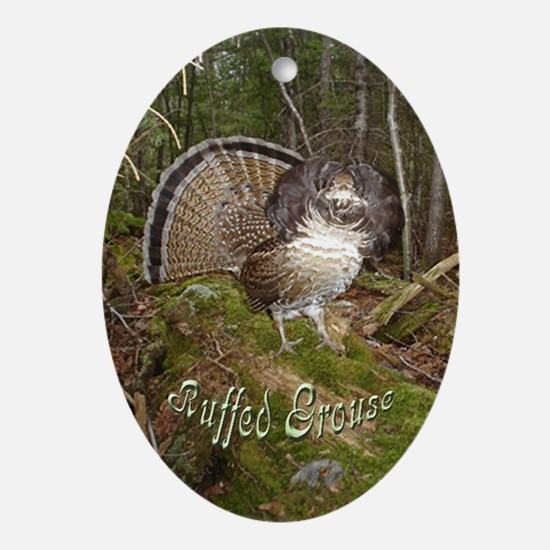 Strutting Grouse Oval Ornament