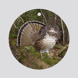 Strutting Grouse Ornament (Round)