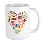 Netherlands World Cup 2014 Heart Large Mug