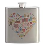 Netherlands World Cup 2014 Heart Flask