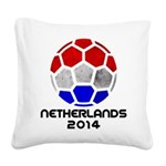 Netherlands World Cup 2014 Square Canvas Pillow