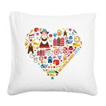 Netherlands World Cup 2014 He Square Canvas Pillow