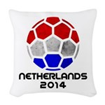 Netherlands World Cup 2014 Woven Throw Pillow