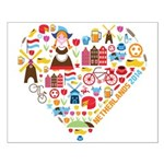Netherlands World Cup 2014 Heart Small Poster