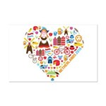 Netherlands World Cup 2014 Heart Mini Poster Print