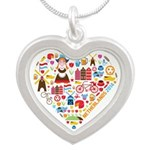 Netherlands World Cup 2014 H Silver Heart Necklace