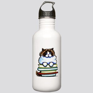 Ragdoll Cat Books Water Bottle